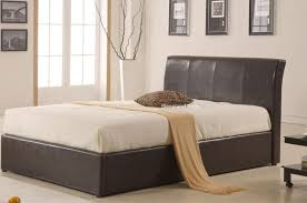 black faux leather ottoman bed single texan ottoman bed in black