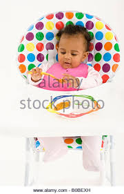 High Chair 3 Months Baby In Highchair Stock Photos U0026 Baby In Highchair Stock Images
