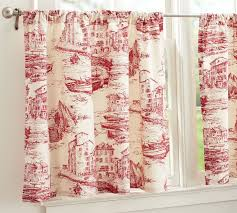 Toile Cafe Curtains For The Kitchen Window Decorating Inspirations