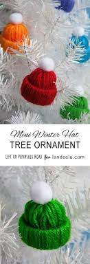 diy tree ornaments to make winter hats tree
