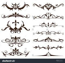 deco design elements vintage ornaments stock vector 599530661