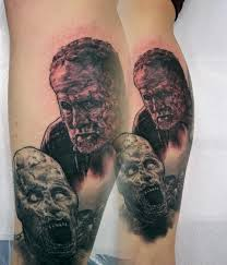 walking dead zombie merle tattoo by alan aldred tattoonow