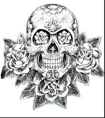 day of the dead skull coloring pages printable book michaels