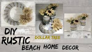 Home Decor Tree Diy Rustic Beach Dollar Tree Home Decor Youtube