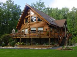 spectacular log cabin homes designs with furniture home design