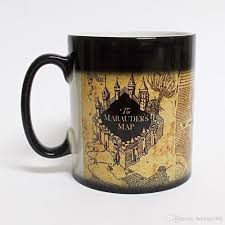 cool cups coffee mark cup harry potter the marauders map heat sensitive color