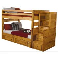 coaster wrangle hill full over full wood bunk bed in amber wash