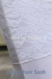 cheap sashes for chairs wholesale 100pcs top quality white lace chair sash for wedding