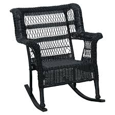 White Rocking Chair Outdoor by Black Wicker Rocking Chair Outdoor Madison Black Wicker Outdoor