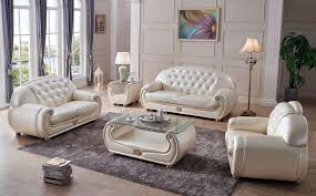 Leather Sofa And Chair Sets Giza Beige Sofa Giza Esf Furniture Leather Sofas At Comfyco Com