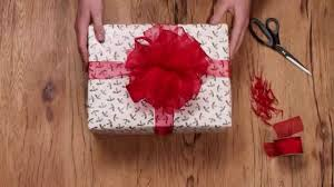 christmas gift bow christmas gift wrapping how to make a ribbon pom pom bow