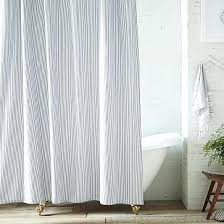 Blue Ticking Curtains Ticking Stripe Curtains Teawing Co