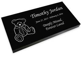 engraved teddy bears teddy grave marker granite engraved infant child headstone