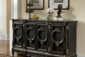 Buy Buffet Table Cabinet Black Sideboard Cabinet Exquisite Black Glass Sideboard