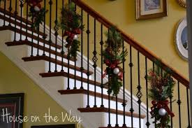 Stairs Decorations by A Delightful Design Christmas Decorating 101 Stairs Working