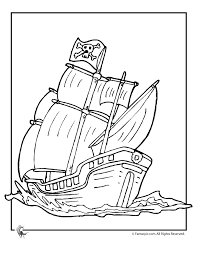 pirate ship outline coloring