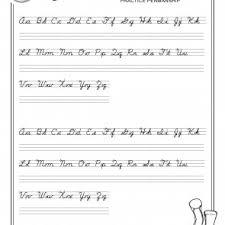 free cursive handwriting worksheets for third grade cursive a z medium print for the cursive