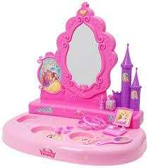 Little Girls Play Vanity Disney Princess Toy Vanity Mirror Girls Make Up Beauty Desk Table