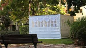 Jewish Decorations Home Traditional Sukkah And Decorations For Rosh Hashanah Stock Footage