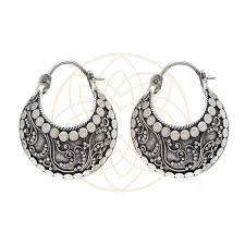 silver earring balinese silver earring mukthaa