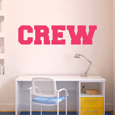 crew written out removable chalktalkgraphix wall decal crew written out removable chalktalkgraphix wall decal