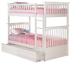 Bunk Beds With Trundle Columbia Twin Twin Bunk Bed Raised Panel Trundle White