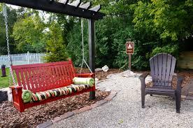 swing bench garden bench decoration