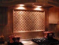 Travertine Subway Tile Backsplash With Basket Weave Above Range - Basket weave tile backsplash