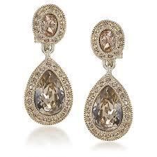 earrings clip on earrings clip on the bridget drop carolee jewelry