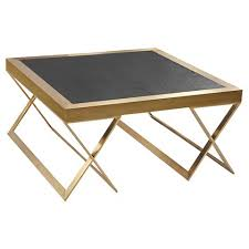 armen living coffee table armen living jasper modern coffee table in gold with black wood