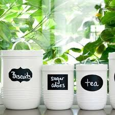 Labels For Kitchen Canisters 40 Piece Home U0026 Kitchen Blackboard Jar Stickers And Lables U2013 More
