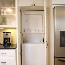 Ideas For A Small Kitchen Anyone Have Ideas For Hiding A Washer And Dryer In A Small Kitchen