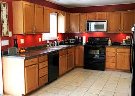 oak cabinets kitchen wall color kitchen decoration