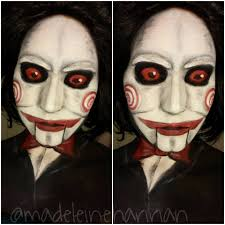 billy the puppet saw tutorial halloween face paint youtube