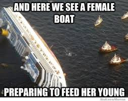 Boat Meme - and here we see a female boat preparing to feed her young