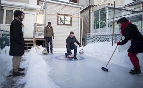 backyard curling rocks the junction toronto star