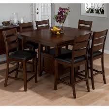 high dining room table sets shocking jofran taylor cherry piece counter height dining table set