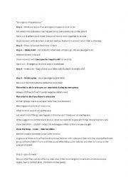 Emergency Preparedness Worksheet Teaching Worksheets Lesson Plans