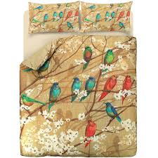 luxury garden birds 100 egyptian cotton sateen duvet cover