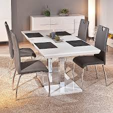 table rectangulaire cuisine table salle a manger extensible blanc laque inspirational table
