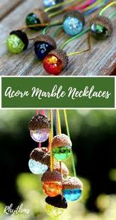 Ornament Craft Ideas Adults This Diy Acorn Marble Necklace Is An Easy Nature Craft Idea For