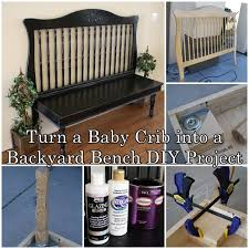 turn a baby crib into a backyard bench diy project the homestead