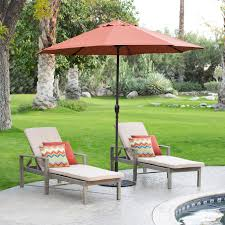 Olefin Patio Umbrella California Umbrella 9 Ft Olefin Auto Tilt Aluminum Patio Umbrella
