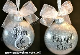 engagement ornament personalized ornament unique