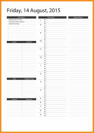 13 daily calendar template word abstract sample