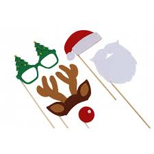 christmas photo booth props pack of christmas photo booth props mollie fred