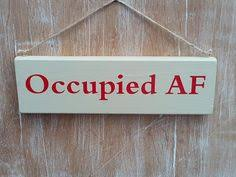 Bathroom Occupied Signs We Leave The Toilet Seat Up Down Funny By Fairleyuniquedecals