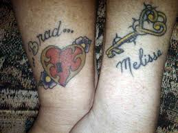 couples tattoos heart lock and key tattoo models designs