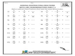 mixed fraction worksheets number sets worksheet