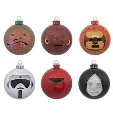 wars return of the jedi tree ornaments baubles